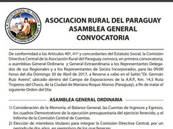 Asamblea General Convocatoria