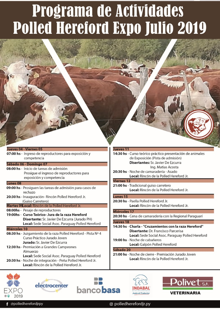 Actividades Polled Hereford - Expo 2019